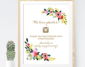 Wedding instagram sign, Hashtag Wedding Sign, Wedding instagram Printable, Instagram sign poster, Instagram wedding printable, DIY