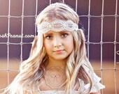 boho headband, rustic girls headband, country bridal headband, flower girls headband, flower girl head piece, boho chic headband, baby, girl