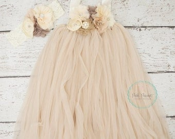rustic champagne flower girls dress, flower girl dresses, tutu flower girl dress, burlap flower girl dress, flower girl dress, toddler