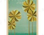 Ala Moana Beach Park - 12x18 Retro Hawaii Print