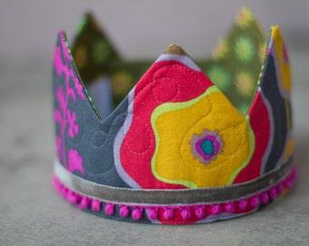 Fabric Crown / Birthday Crown - Princess Lieve