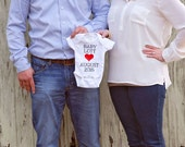 Pregnancy Announcement Onesie Baby Birth Prego Fun Ways Creative Personalized Custom Customized