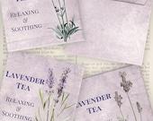 Lavender Tea Bag Envelopes - printable - VDTEVI1049