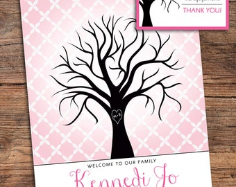 Fingerprint Tree Guestbook for Shower, Party, Wedding, etc