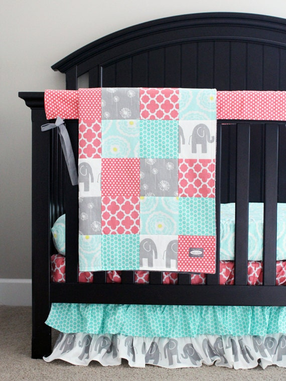 items similar to custom crib bedding baby bedding mint
