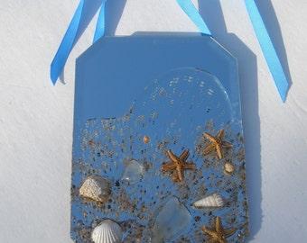 BEACH MIRROR, Starfish Mirror, Mirror, Nautical Mirror, Wall Mirror,Coastal Cottage Decor, Beach Theme Decor, Starfish Decor, Starfish, #302