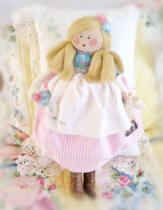 Art Doll Doll MINDY 16 inch OOak Art Doll Soft Sculpture Handmade CharlotteStyle SIGNED