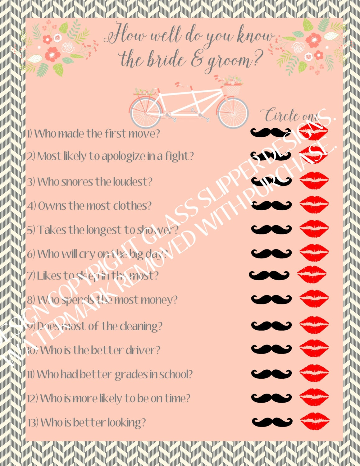 Wedding Shower Games For Bride And Groom Groom/bridal Shower Games/