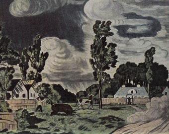 "N. Krymov ""Windy Day"" Postcard -- 1968, Soviet Artist Publ."