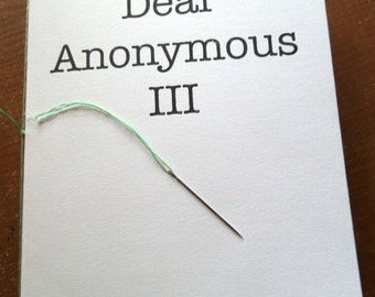 Dear Anonymous 3 - A5 Zine of Letters