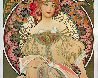F. Champenois Imprimeur Editeur (1897) by Alphonse Mucha~NEW 8x10 Art Print Reproduction