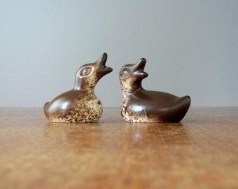 Two Mid Century Modern Howard Pierce Ceramic Duckling Figurines
