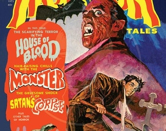 Horror Tales (Jan 1972) - 10x13 Giclée Canvas Print of a Vintage Comic Book Cover