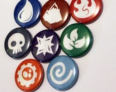 """LIMITED EDITION Element Symbols Set - 1"""" Inch pins - Buttons - Pin - Badge"""