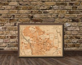 "Oxford map -  Vintage map of Oxford  - 16 x 22""  - Archival print"