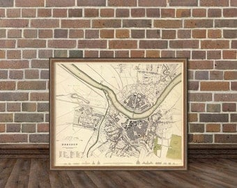 Old map of Dresden - Vintage Dresden (Germany) map print - Fine reproduction