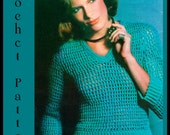 Instant Download PDF Vintage Seventies  Women's Net Pullover Crochet Pattern