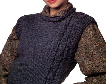 Instant Download PDF Vintage Eighties Stylish Slipover Knitting Pattern