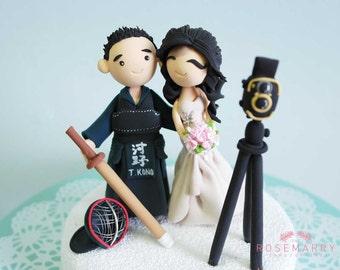 Custom Cake Topper- Classic Kendo Couple