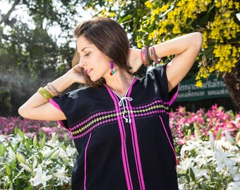 Karen Shirt(Black)/Hippie /Boho/Whole sale/Tunic Shirt