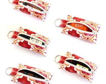 Keychain pouch | essential oil holder | lip balm holder | change purse | key fob | earbud case
