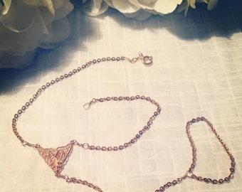 Gela Hand Chain - ring/bracelet - slave bracelet. 14kt gold filled NOW AVAILABLE