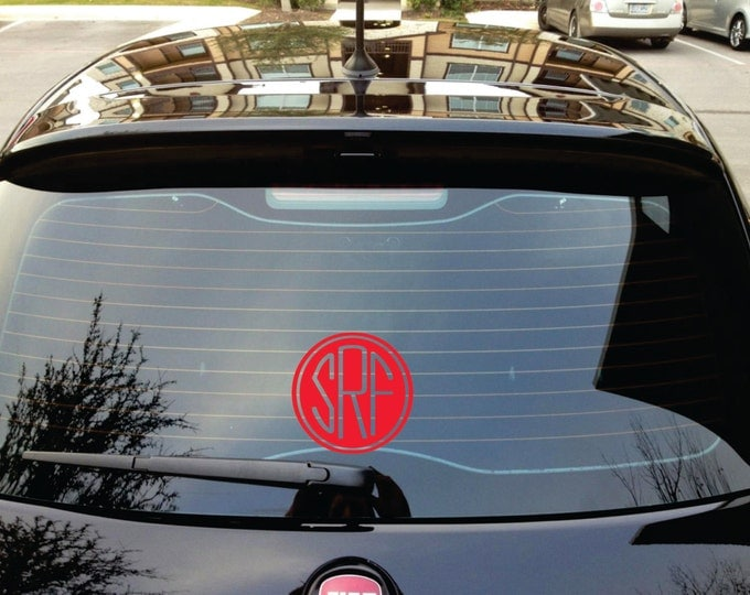 Monogram Car Decal - Small Decal - Name Wall Decal - Monogram Door Decal - Car Stickers Personalized Monograms  - Small Wall Decals