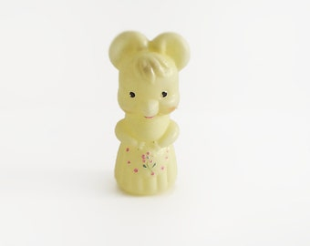 MOUSE Soviet Plastic Yellow Toy