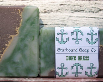 Dune Grass Handmade Soap with cocoa butter, avocado oil and oatmeal - Beach Soap