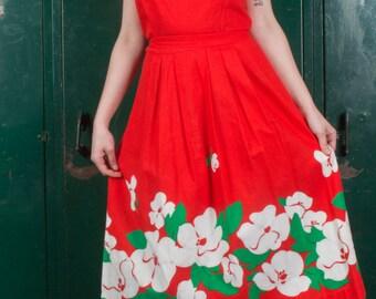Vintage 60s Floral Summer Dress