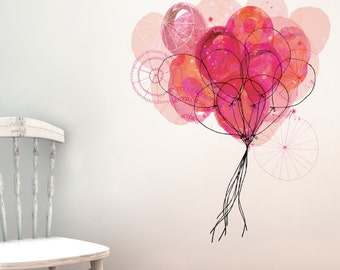 Carnival Balloons Removable Wall Sticker | LSB0071CLR-SWM