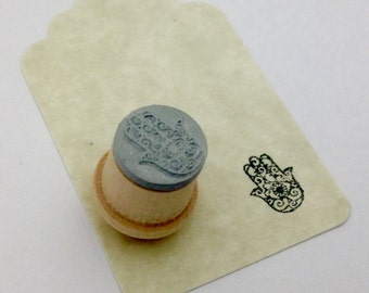 Khamsa Open Palm Rubber Stamp XS Y003