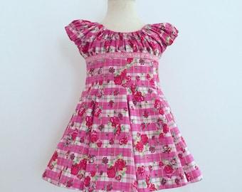 Girls Toddler Dress, Pink Dress For girls, Girls Outfit, Sz 3Y, Birthday Party Dress, Festive Kids Dress, Girls Clothes, European Handmade