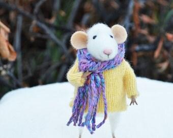 Новый зимний мышь - Рождество Оригинальные произведения искусства созданы Johana Molina - путем валяния мечты
