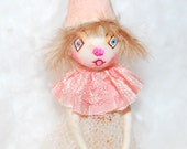 spun cotton princess ornament 'just a girl with a heart'  Valentine OOAK vintage craft by jejeMae