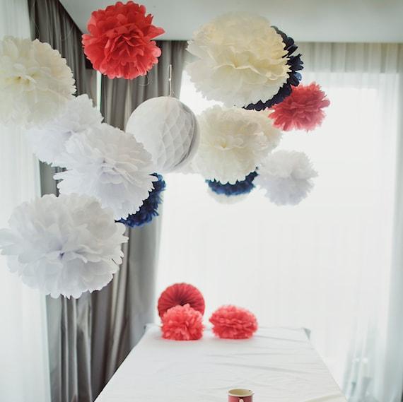 18 gro e gewebe papier pompons hochzeitsdekorationen ihre. Black Bedroom Furniture Sets. Home Design Ideas