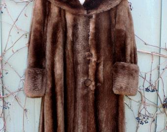 vintage Beaver coat 1950s Sheared Phantom Beaver full beautiful warm vintage fur Coat Large