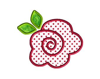 Rose Applique Machine Embroidery Design-INSTANT DOWNLOAD