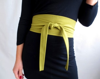 Obi belt, green suede obi belt, lime green belt, green obi belt, green sash belt, suede belt, faux suede belt