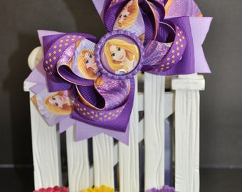 Disney Prinecss Rapunzel ~~Cute bow for babies, toddlers and big girls ~ Bow measures approximately 5.5 inches