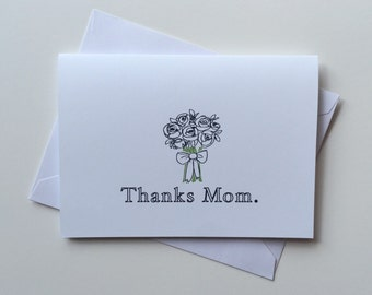 Thanks Mom, Thanks Dad bridal party cards / Wedding, Thank you cards