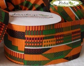"""2-1/2"""" x 20yd. KENTE Ribbon Roll - NON-Wired"""
