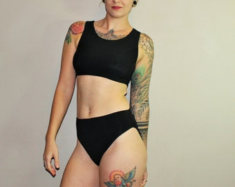 Custom Bamboo 80's French Cut High Waisted Retro Underwear Panties /Any Size /Made to Measure/ 6 Colors