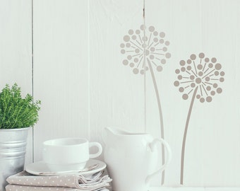 Allium flower stencil from The Stencil Studio. Reusable home decor & DIY stencils, simple to use. Size 4 x 10 inches. 10003S