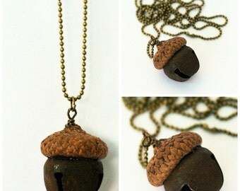 Acorn for Thimble Peter Pan and Wendy Hidden Kiss Necklace Acorn Necklace