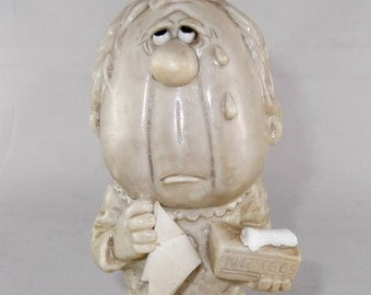 Russ Berries Sorry To See You Go Figurine 1971 Sad Face Figurine