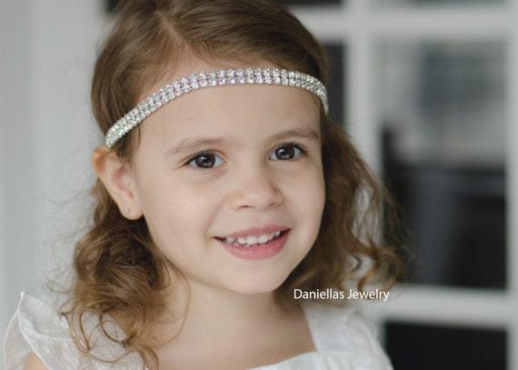 Wedding Hair Accessory, Beaded headband, Ribbon Headband,rhinestone