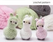 crochet llama pattern - cute amigurumi plush pattern
