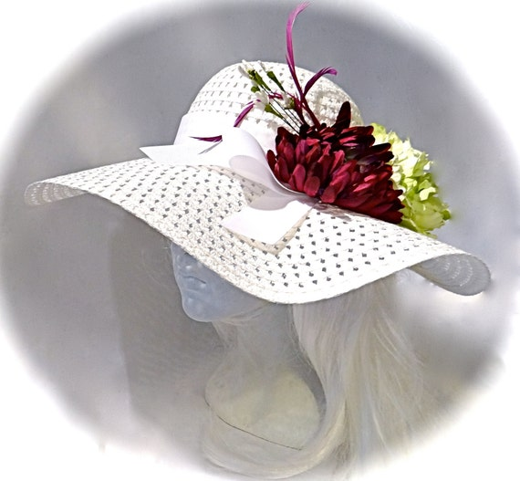 White Derby Hat Mother Of The Bride Hats Tea By Marcellefinery