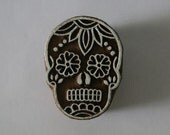 Sugar Skull Stamp Day of the Dead - Indian Hand Carved Wood Block